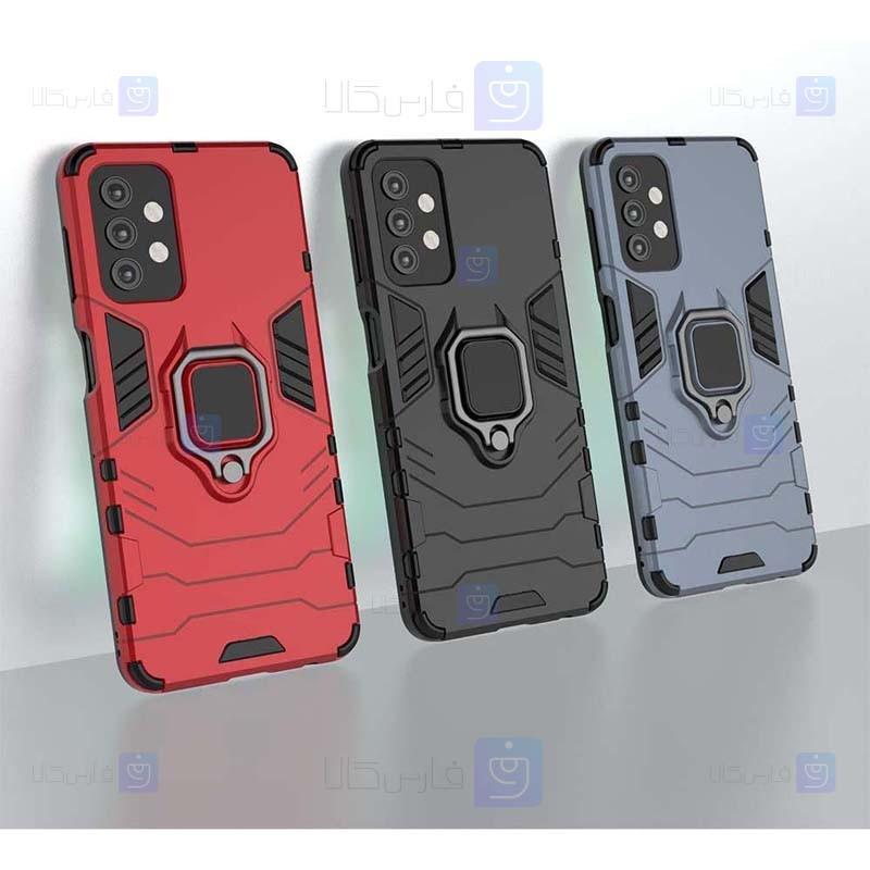 قاب محافظ انگشتی سامسونگ Ring Holder Iron Man Armor Case Samsung Galaxy A32 5G