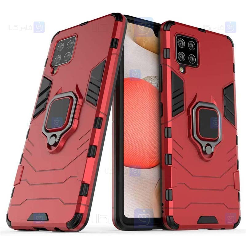 قاب محافظ انگشتی سامسونگ Ring Holder Iron Man Armor Case Samsung Galaxy A42 5G