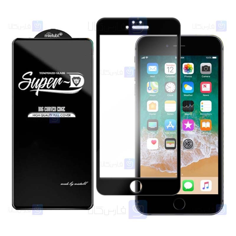 گلس گوشی اپل Super D Full Glass Screen Protector For Apple iphone 6