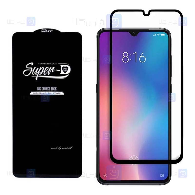 گلس گوشی شیائومی Super D Full Glass Screen Protector For Xiaomi Mi 9