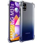 قاب محافظ پشت کریستالی کپسول دار سامسونگ Transparent Air Rubber Case For Samsung Galaxy M31s