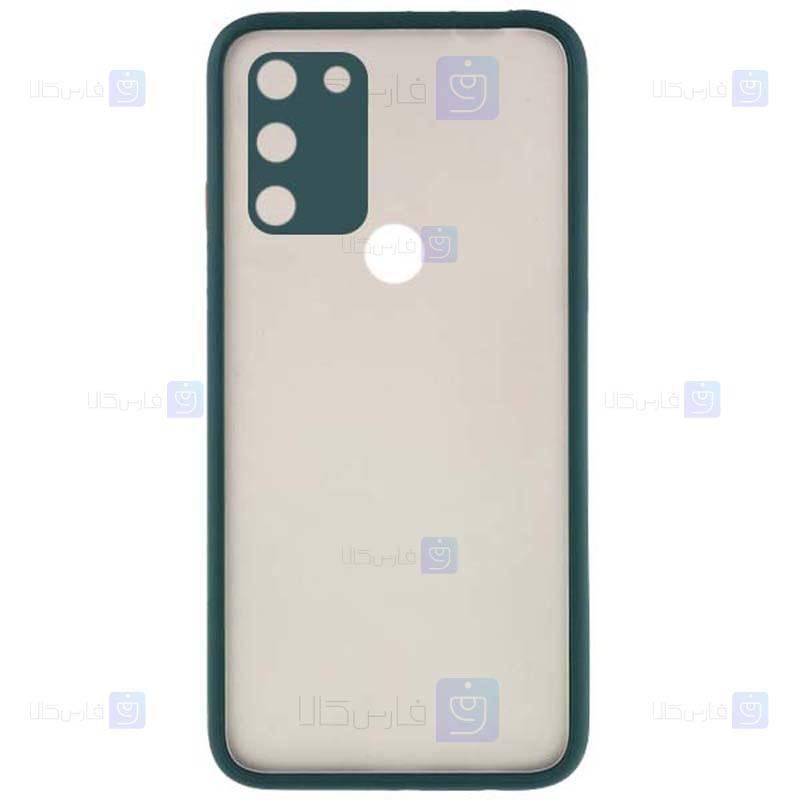 قاب محافظ مات با محافظ لنز هواوی Transparent Hybrid Case With Lens Protector Huawei Honor 9A
