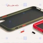 قاب محافظ مات با محافظ لنز سامسونگ Transparent Hybrid Case With Lens Protector Samsung Galaxy S21 Ultra