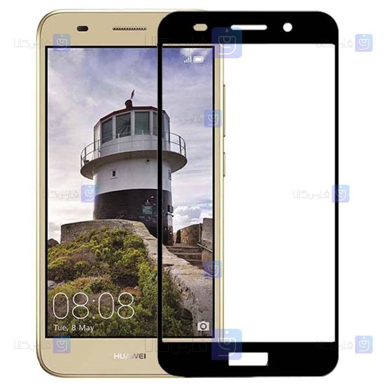 محافظ صفحه نمایش شیشه ای تمام چسب با پوشش کامل هواوی Full Glass Screen Protector For Huawei Y3 2018