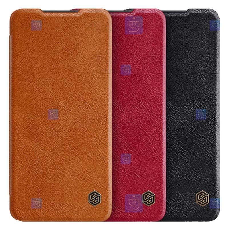 کیف محافظ چرمی نیلکین سامسونگ Nillkin Qin Case For Samsung Galaxy A72 4G
