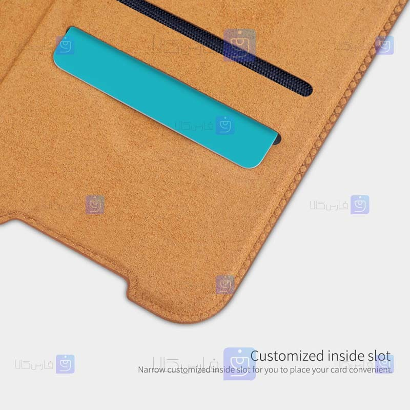 کیف محافظ چرمی نیلکین سامسونگ Nillkin Qin Case For Samsung Galaxy A72 5G