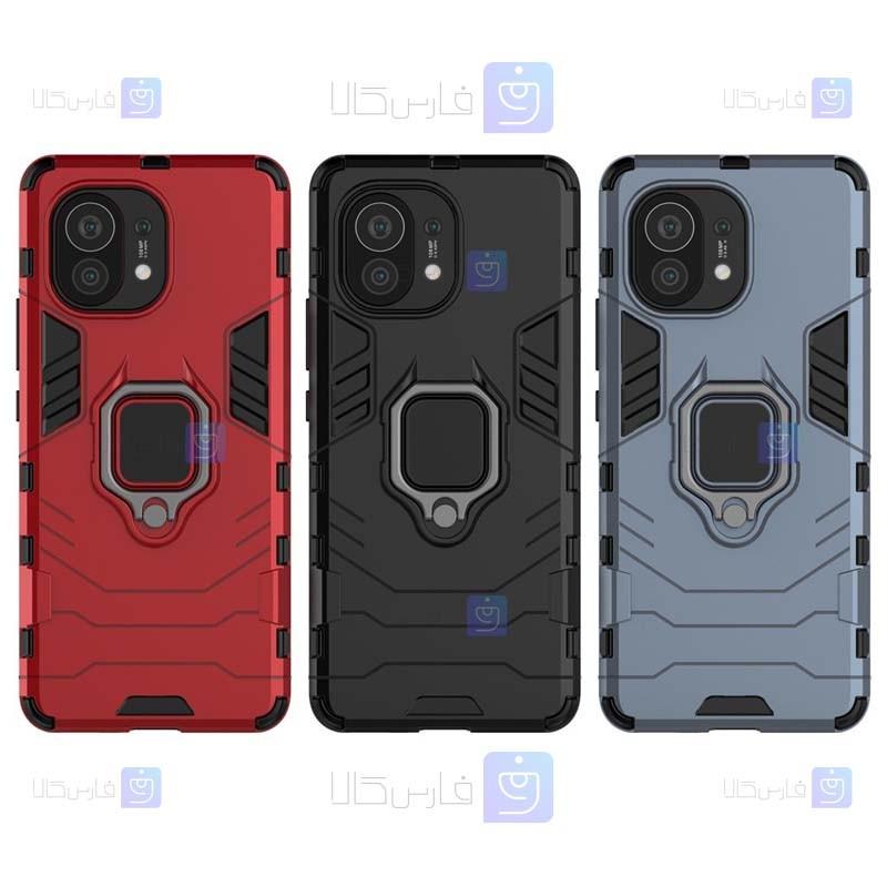 قاب محافظ ضد ضربه انگشتی شیائومی Ring Holder Iron Man Armor Case Xiaomi Mi 11