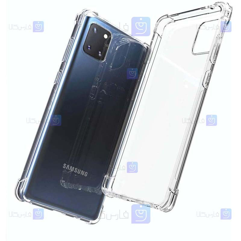 قاب محافظ ژله ای کپسول دار 5 گرمی سامسونگ Clear Tpu Air Rubber Jelly Case For Samsung Galaxy Note 10 Lite
