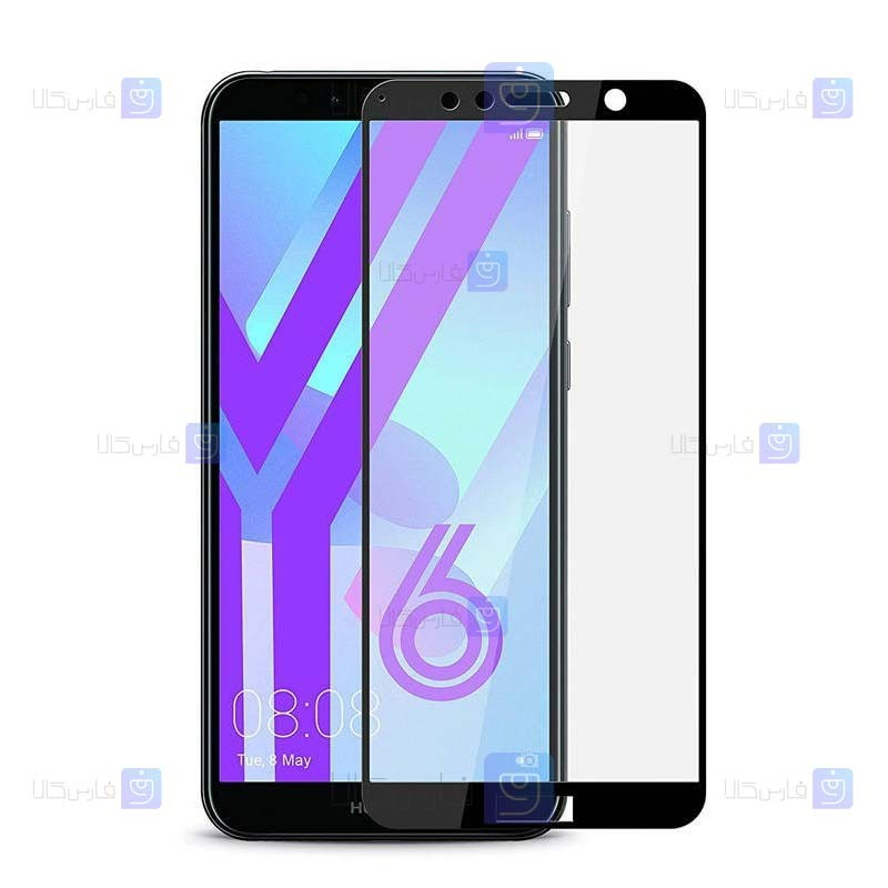 محافظ صفحه نمایش مات تمام چسب با پوشش کامل هواوی Full Matte Glass Screen Protector For Huawei Y6 2018