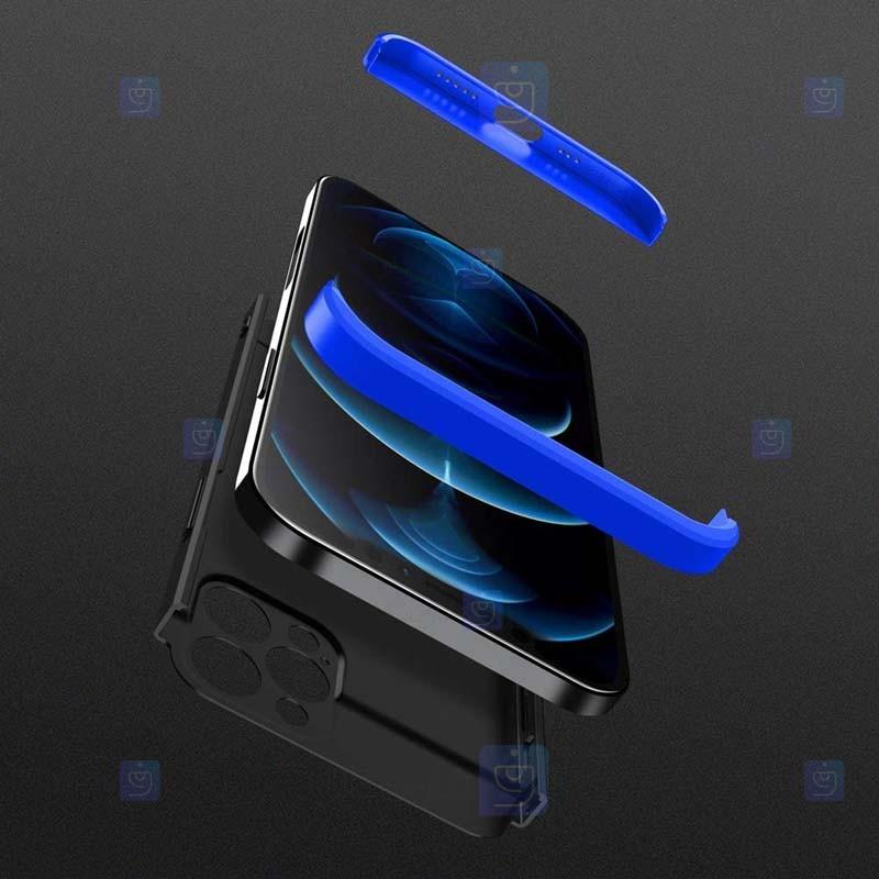 قاب محافظ با پوشش 360 درجه بدون برش لوگو اپل GKK Color Full Cover Without Hole For Apple iPhone 12 Pro