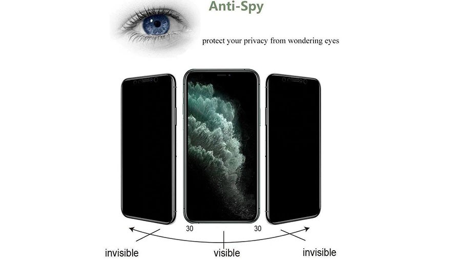 محافظ صفحه نمایش حریم شخصی تمام چسب با پوشش کامل هواوی No Frame Glass Privacy Full Screen Protector for Huawei Honor 10 Lite