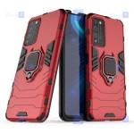 قاب محافظ ضد ضربه انگشتی هواوی Ring Holder Iron Man Armor Case Huawei Honor X10 5G