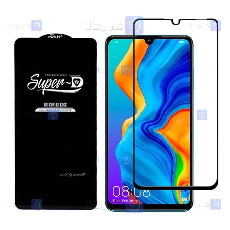 گلس گوشی هواوی Super D Full Glass Screen Protector For Huawei P30 lite