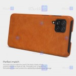 کیف محافظ چرمی نیلکین سامسونگ Nillkin Qin Case For Samsung Galaxy M62