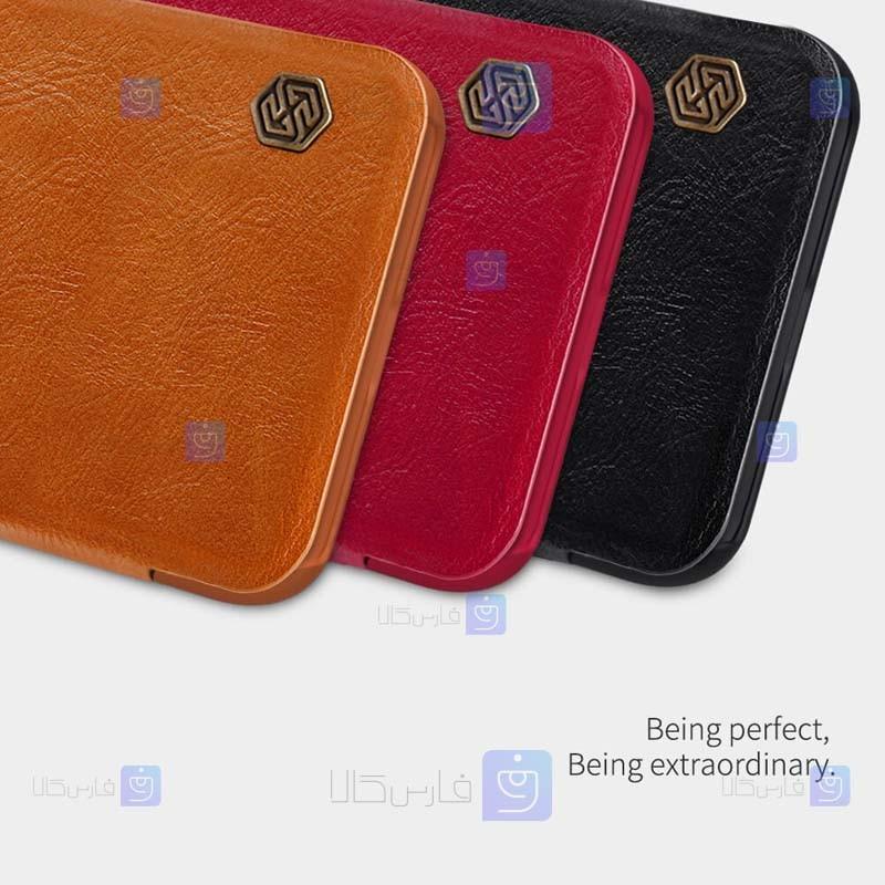 کیف محافظ چرمی نیلکین شیائومی Nillkin Qin Case For Xiaomi Redmi 9T
