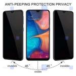 محافظ صفحه نمایش حریم شخصی تمام چسب با پوشش کامل سامسونگ Privacy Full Screen Protector for Samsung Galaxy A12