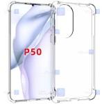 قاب محافظ ژله ای کپسول دار 5 گرمی هواوی Clear Tpu Air Rubber Jelly Case For Huawei P50