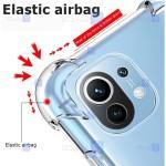 قاب محافظ ژله ای کپسول دار 5 گرمی شیائومی Clear Tpu Air Rubber Jelly Case For Xiaomi Mi 11 Lite