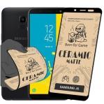 محافظ صفحه نمایش مات سرامیکی تمام صفحه سامسونگ Full Matte Ceramics Screen Protector Samsung Galaxy J6