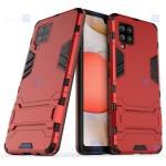قاب محافظ استند دار سامسونگ Kick Stand Iron Man Armor Case Samsung Galaxy M42