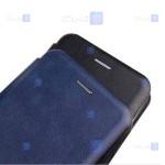 کیف محافظ چرمی اپل Leather Standing Magnetic Cover For Apple iPhone 12 Pro