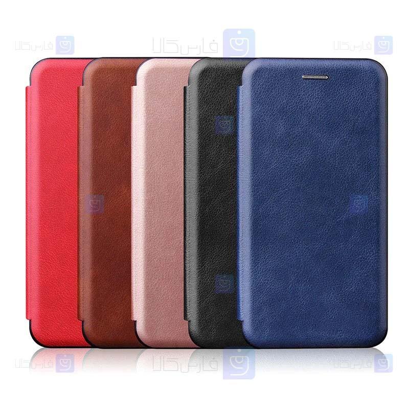 کیف محافظ چرمی سامسونگ Leather Standing Magnetic Cover For Samsung Galaxy A32 4G