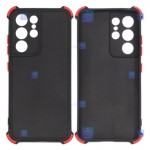 قاب محافظ ژله ای ضد ضربه با محافظ لنز سامسونگ Shockproof Cover Case For Samsung Galaxy S21 Ultra