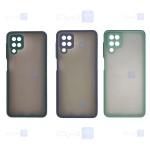 قاب محافظ مات با محافظ لنز سامسونگ Transparent Hybrid Case With Lens Protector Samsung Galaxy M42