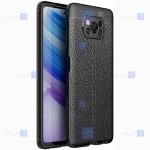 قاب ژله ای طرح چرم شیائومی Auto Focus Jelly Case For Xiaomi Poco X3 NFC