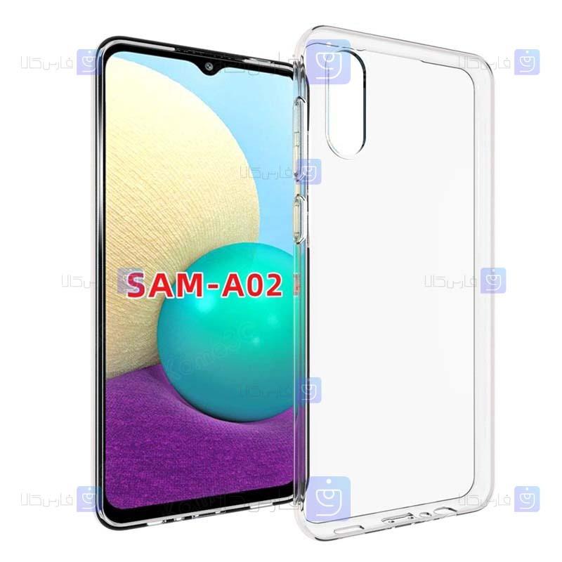قاب شفاف Samsung Galaxy A02 مدل شیشه ای - ژله ای