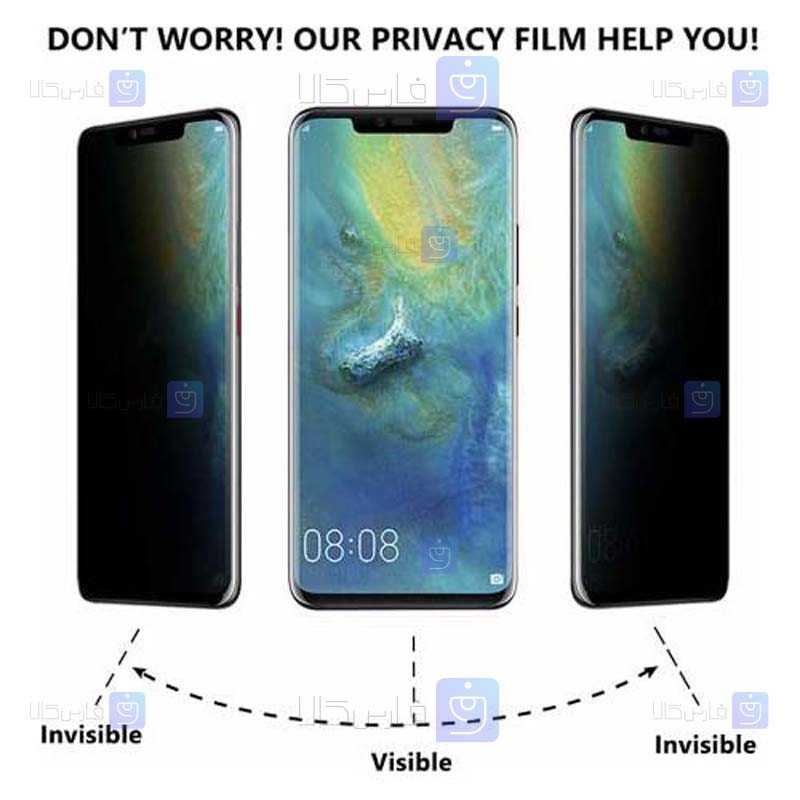 محافظ صفحه سرامیکی Huawei Mate 30 Pro مدل حریم شخصی