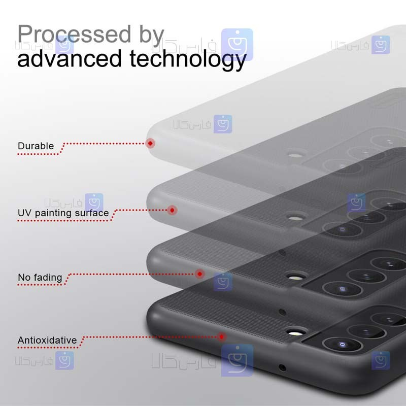 قاب محافظ نیلکین سامسونگ Nillkin Super Frosted Shield Case Samsung Galaxy S21 FE
