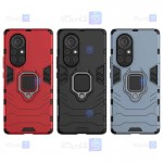 قاب محافظ ضد ضربه انگشتی هواوی Ring Holder Iron Man Armor Case Huawei Nova 8 Pro