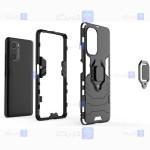 قاب محافظ ضد ضربه انگشتی شیائومی Ring Holder Iron Man Armor Case Xiaomi Mi 11i