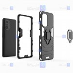 قاب محافظ ضد ضربه انگشتی شیائومی Ring Holder Iron Man Armor Case Xiaomi Redmi K40