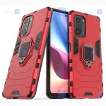 قاب محافظ ضد ضربه انگشتی شیائومی Ring Holder Iron Man Armor Case Xiaomi Redmi K40 Pro Plus