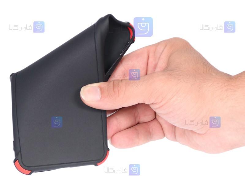 قاب محافظ ژله ای ضد ضربه با محافظ لنز سامسونگ Shockproof Cover Case For Samsung Galaxy A12