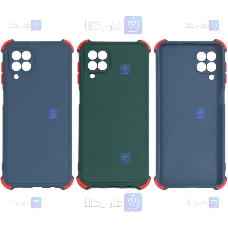 قاب محافظ ژله ای ضد ضربه با محافظ لنز سامسونگ Shockproof Cover Case For Samsung Galaxy F62