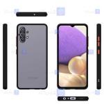 قاب محافظ پشت مات با محافظ لنز سامسونگ Transparent Hybrid Case With Lens Protector Samsung Galaxy A32 4G