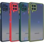 قاب محافظ پشت مات با محافظ لنز سامسونگ Transparent Hybrid Case With Lens Protector Samsung Galaxy F62
