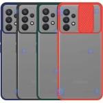 قاب محافظ مات با محافظ لنز سامسونگ Transparent Hybrid Matte CamShield Case for Samsung Galaxy A32 4G