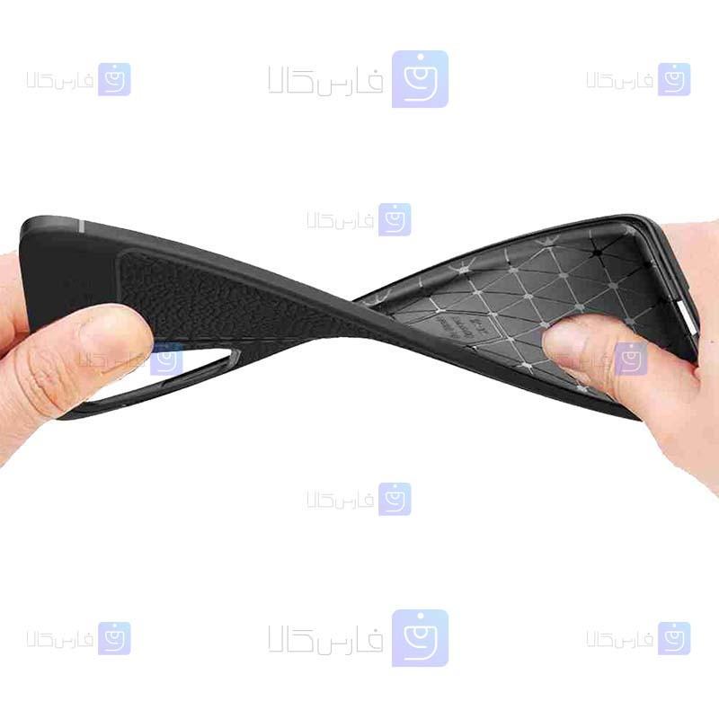 قاب ژله ای طرح چرم Samsung Galaxy S20 Plus مدل Auto Focus