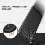 قاب ژله ای Xiaomi Redmi Note 8 2021 مدل فیبر کربنی