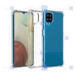 قاب کپسول دار Samsung Galaxy A12 مدل شیشه ای - ژله ای