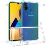 قاب کپسول دار Samsung Galaxy M30s مدل شیشه ای - ژله ای