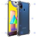 قاب کپسول دار Samsung Galaxy M31 مدل شیشه ای - ژله ای